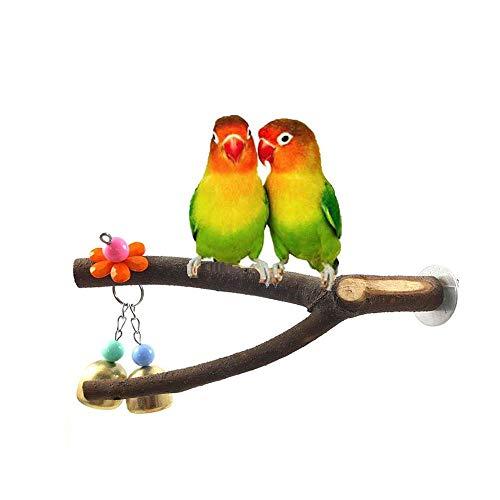 Uteruik - Hamaca de Escalera para pájaros, Juguete para Percha de hámster o Jaula de Chinchilla de Animales pequeños, Color Gris Africano, 1 Pieza, LZ#15