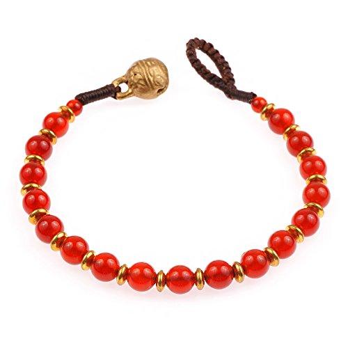 Latón y genuino semipreciosas piedras preciosas pulsera de perlas