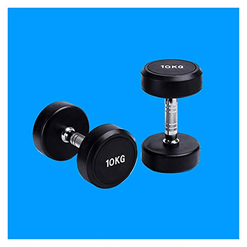 XUEXIU 2.5kg-45kg Factory Direct Caucho Fijo Dumbbell Fitness Cabeza Redonda Dumbbell Iron Fitness Dumbbell Individual (Color : 40kg)