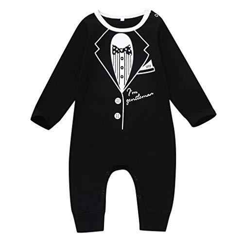 Allence Kleinkind Kinder Baby Jungen Gentleman Anzug Brief Strampler Overall Kleidung Outfits