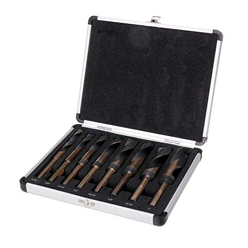 Brocas, For Madera Metal 8pcs Taladro 1/2 pulgadas caña HSS 4241 Fresa espiral Bit Set 9/16 a 1 pulgada de la torcedura (Size (US) : 2#)