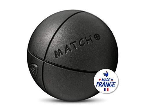 Obut - Match Plus 76mm strie2 - Boules de pétanque - Noir - Taille 680g