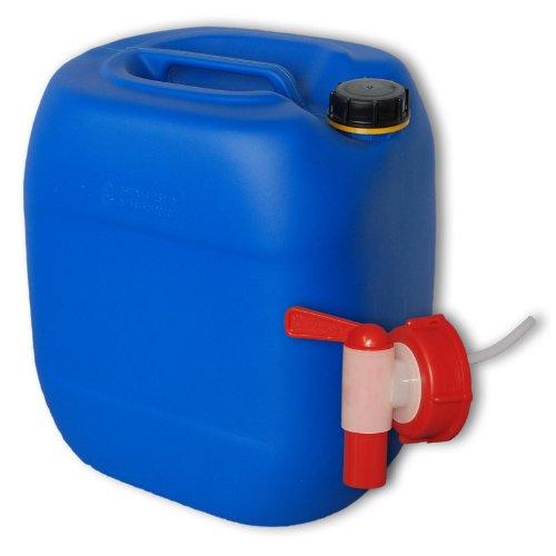 Wilai GmbH Bidon – Jerrican 30 L, Bleu, avec 1 Robinet DIN 61 (22027+22010)