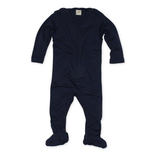 Lilano Strampler, Größe 68, Farbe Blau von Wollbody® - 70% Schurwolle kbT, 30% Seide - Vertrieb nur durch Wollbody®