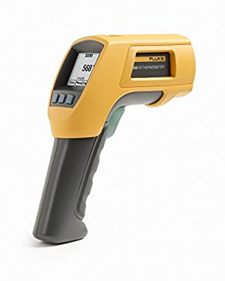 Fluke Infrared Thermometer, 2AA/LR6 Battery, -40 to +1472 Degree F Range with a NIST-Traceable Calibration Certificate with Data