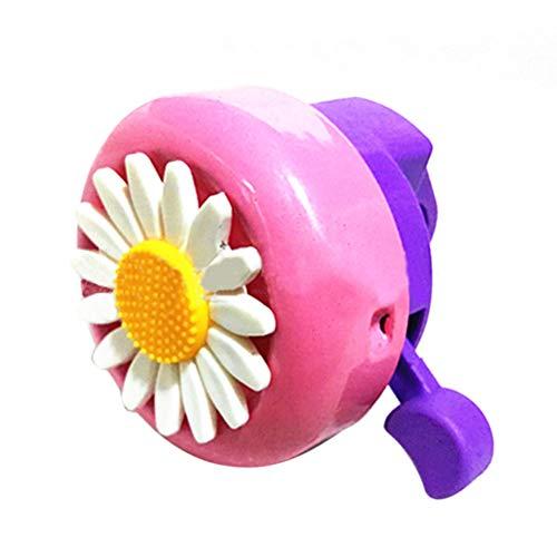 Fahrradklingel Rosa Kinder, Kinder Fahrradklingel Blumen Fahrradklingel für Mädchen Radfahren Ring Alarm Sonnenblume Stil Chrysantheme Fahrradklingel für Kinder