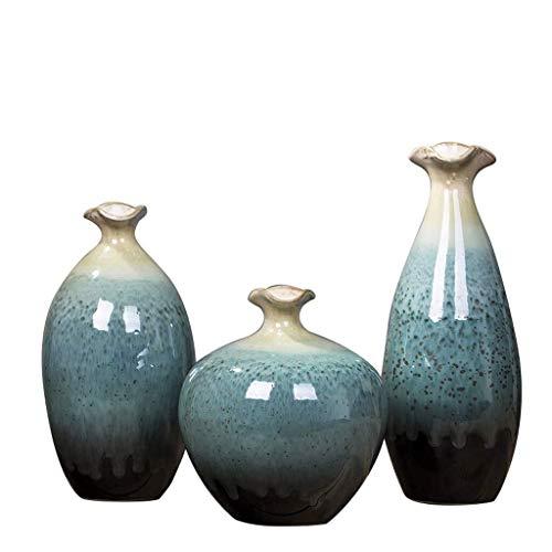 WKHQQ Vasi Tradizionali Vaso Bottiglia di Porcellana Fiore Secco Vaso di Decorazione Floreale Vaso di Fiori di Decorazione di casa Set Vaso Vaso di Fiori Finti