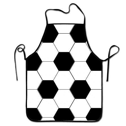 LarissaHi Koch Lätzchen Schürze, langlebig gesponnene Poly Baumwolle, Kochen Küche Restaurant Uniform Schürzen für Männer Frauen-Fußball Fußball