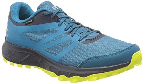 Salomon Trailster 2 GTX, Zapatillas de Trail Running para Hombre, Azul (Lyons Blue/Navy Blazer/Evening Primrose), 47 1/3 EU