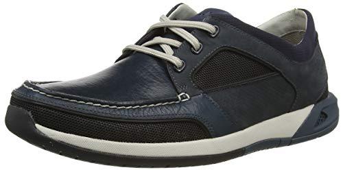 Clarks Ormand Sail, Zapatillas para Hombre, Azul (Navy Combi Navy Combi), 39.5 EU