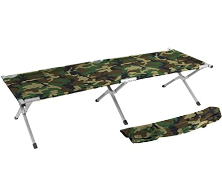 Trademark Innovations 75 Inches Portable Folding Camping Bed Cot - Camo version.