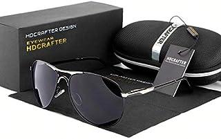 نظارة شمسية للرجال - عدسات كريستال - أسود