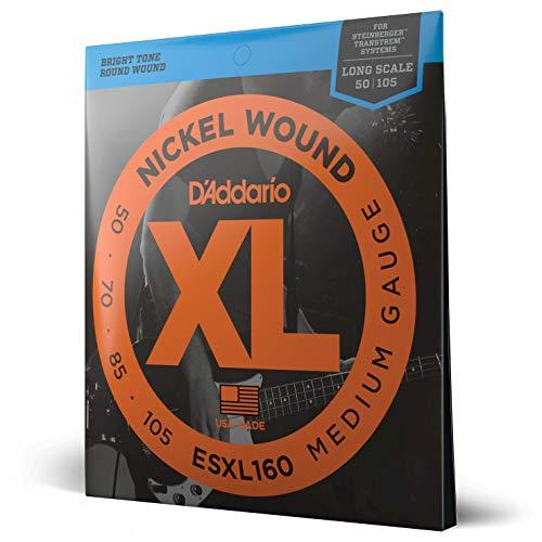 D'Addario ESXL160 XL Nikkel Wond Medium (.050-.105) Dubbele Ball End Elektrische Bas Gitaar Snaren
