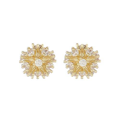 LZLM zilveren oorbellen dames sieraden prachtige diamant eenvoudige bolvormige kleine oorbellen