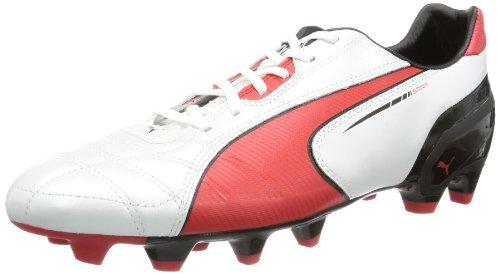 Puma Spirit FG 102671, Scarpe da calcio uomo, Bianco (Weiß (metallic white-high risk red-black 05)), 46.5