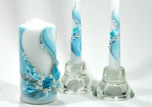 Magik Life Unity Candle Set for Wedding - Wedding décor & Wedding Accessories - Candle Sets TurquoiseWave