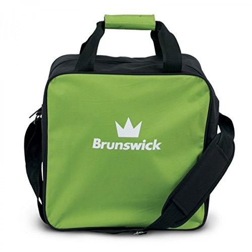 Brunswick TZone Single Tote 1-Ball-Bowling-Tasche für einen Bowlingball, Farbe:Lime