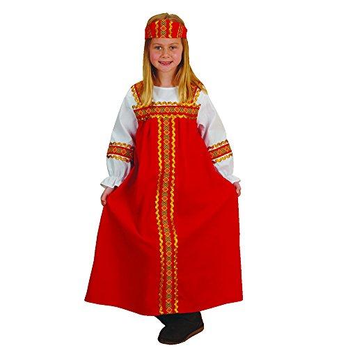 Disfraz ruso para niña, se adapta a la mayoría de los niños de 3 a 6 años