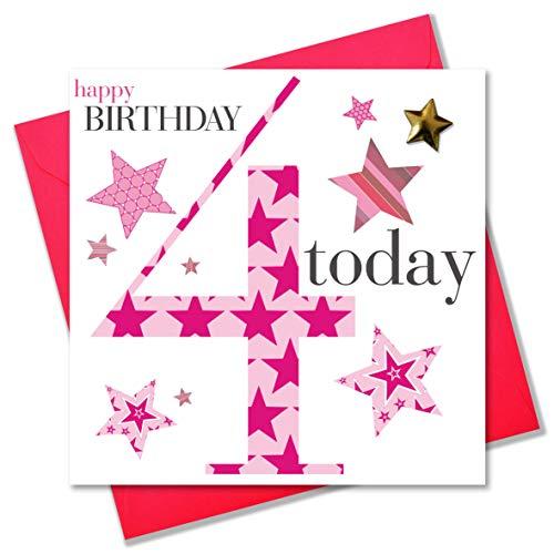 Claire Giles verjaardagskaart 4 jaar voor meisjes