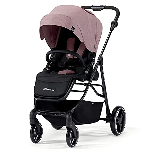 Kinderkraft Stroller VESTO, Lightweight Pushchair, Large waterproof Hood, with UPF 50+ FIlter, 2 Directions of travel, Foldable, Accessoires, Cup Holder, Pink