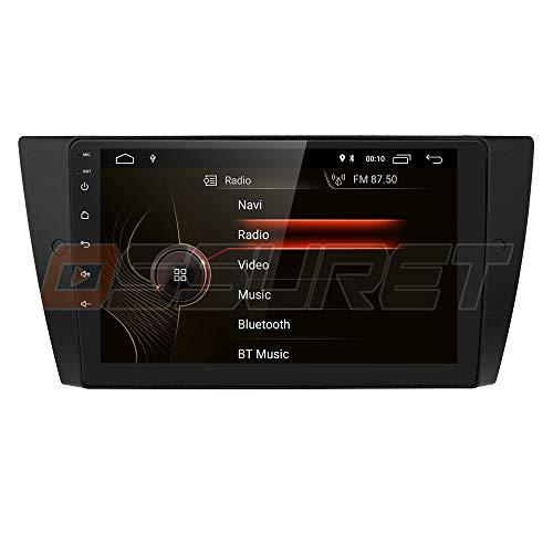 Android 10 Radio Bluetooth Apto para BMW 3 Series E90 / E91 / E92 / E93 2006-2012, navegación GPS para automóvil DIN único 9 Pulgadas 1080P Reproductor de Video 4G WiFi OBD2 TPMS Control del Volante