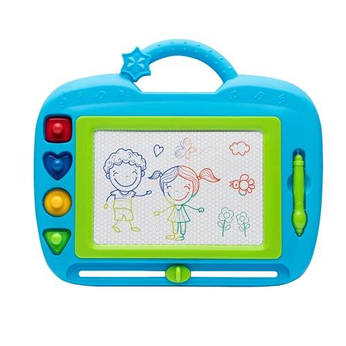 PIZARRA DIBUJO INFANTIL. Escritura Magnética Doodle Sketch. Primeros Pasos con el Dibujo. Multicolor. Juguete Educativo para Niños a partir de 3 Años.
