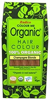 RADICO - 100% Natural Hair Color - Champagne Blonde - Covers Gray Hair - Protects and Nourishes - Certified by Ecocert - 100 g