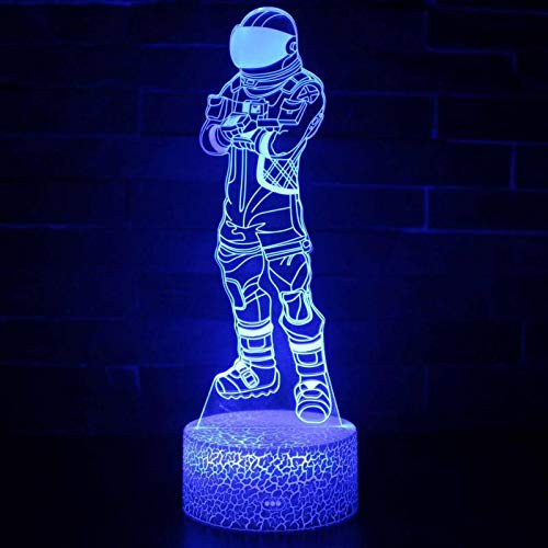 3D LED Tischlampe Nachtlicht Pistole Waffe Acryl Illusion Nachtlicht Schuss Spiel Charakter Superheld Schlafzimmer Dekoration Kinder Geschenk