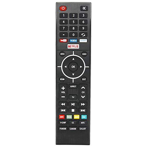 New KY49C178F Remote Control fit for Element Smart LED TV E4SFT5017 E4SFT5517 ELEFJ322 ELSJ4016 ELSJ5017 ELST3216H ELST4017 ELST4316S ELST5016S with 4 Shortcut Keys YouTube Vudu Pandora Netflix