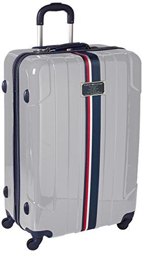 Tommy Hilfiger Lochwood Hardside Spinner Luggage, Silver, 28 Inch