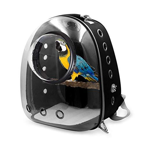 mooderff huisdier rugzak voor vogels, transparante ruimtecapsule reiskooi kat hond huisdier drager rugzak, zwart