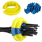 Cable Organizer Kit Cable Dresser Include Blue Cable Organizing Insert with Hook and Loop Fastener Cable Bundle for Server Room Data Cable and Machine Room for Cable Management