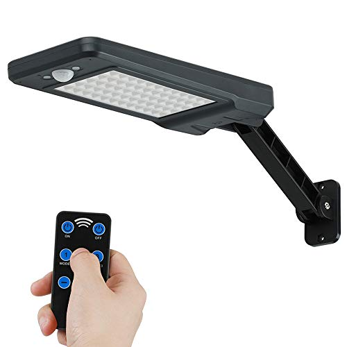GEYUEYA Home Solar Lampe 60 LED 900LM Solar Wandleuchte, Solarlampen für außen, Solarbewegungs-Sensor-Sicherheits-Lichter IP65 wasserdicht Wand-Lichter mit drehbaren installierten Stents (1pcs 60LED)