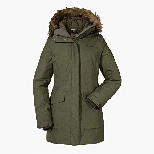 Schöffel Damen Down Parka Storm Range1 L wetterfeste und warme Daunenjacke für Damen, leichte und atmungsaktive Winterjacke