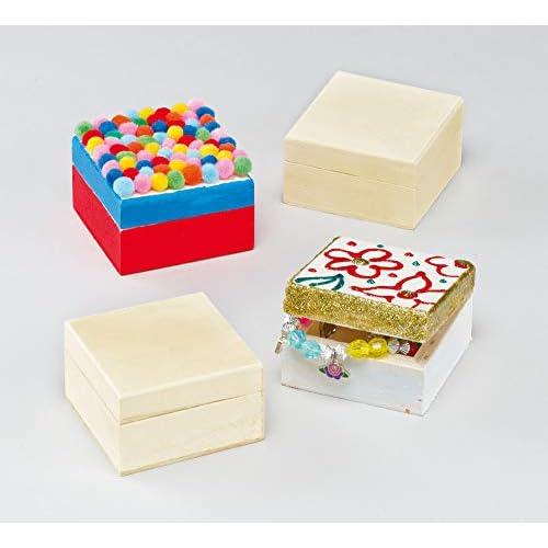 Baker Ross Scatola Artigianato Fai da Te, per i bambini da dipingere, decorare e personalizzare per le attività di arti e mestieri (confezione da 4)