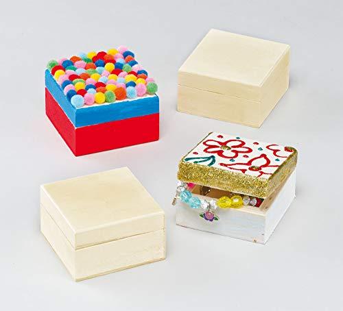 Baker Ross EK1325 Cajas de Manualidades Para Decorar (paquete de 4) para...