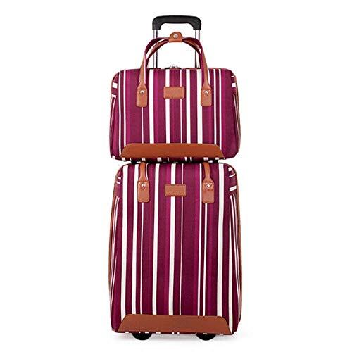 DWEMM Leichter Reisetrolley Zweiteiliges Set Für Einen Stabilen Und Praktischen Rucksack Für Das Handgepäck Von Flugzeugen - Koffer 36-55L, Mobiles Vorhängeschloss, Oxford-Stoff