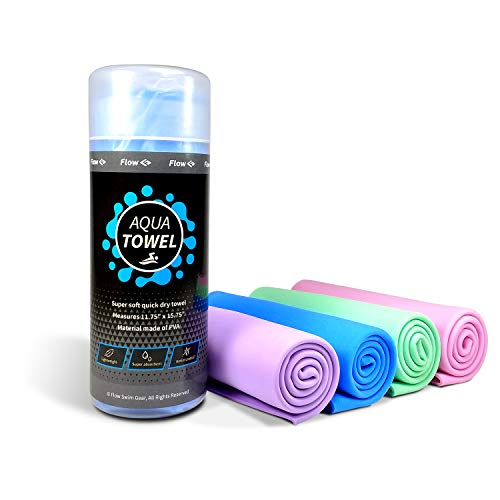 Flow Super Soft Aqua Towel - Quick Drying Cloth for Swimming (Blue)