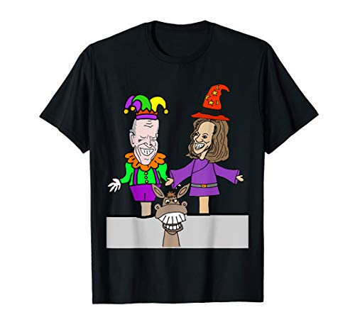 Socialdudtees Funny Biden and Harris Hand Puppets Political T-Shirt