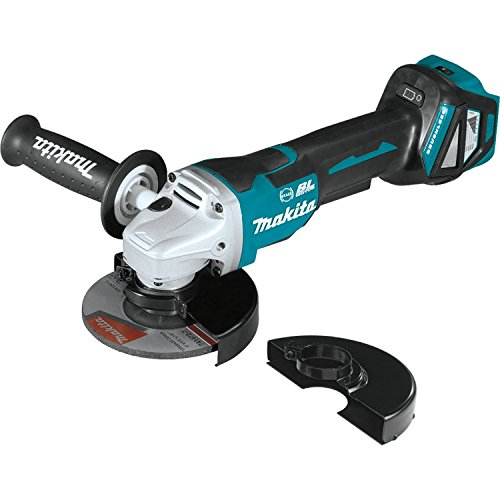"Makita XAG21ZU 18V LXT Lithium-Ion Brushless 4-1/2""/ 5' Paddle Switch Cut-Off/Angle Grinder, Electric Brake & Aws, Tool Only"