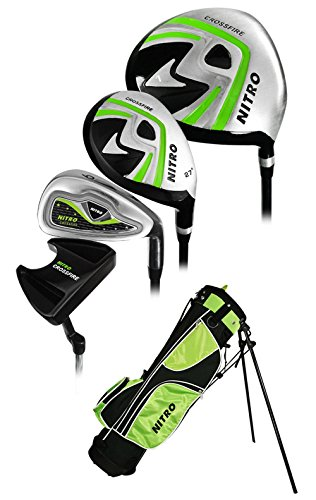 Nitro Golf Junior Crossfire 8 Piece Complete Set with Bag (Ages 9-12)