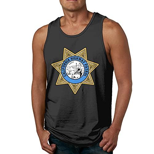 Chp Badge California Highway Patrol Camiseta sin Mangas para Hombre Camiseta Deportiva sin Mangas de Entrenamiento