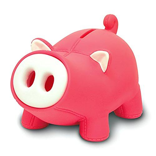 DomeStar Cute Pig Piggy Bank, Pink Pig Bank Toy Coin Bank Decorative Saving Bank Money Bank Adorable Pig Figurine for Boy Girl Baby Kid Child Adult Pig Lover