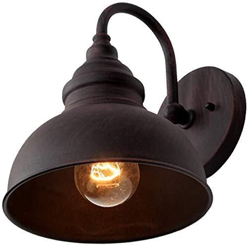 ZOUSHUAIDEDIAN Aplique de Pared Exterior, de la Pared Exterior del Accesorio Ligero, Negro Mate Pared Linterna con la Sombra de Metal for Entrada, Porche, Puerta Principal, la lámpara de Pared LED