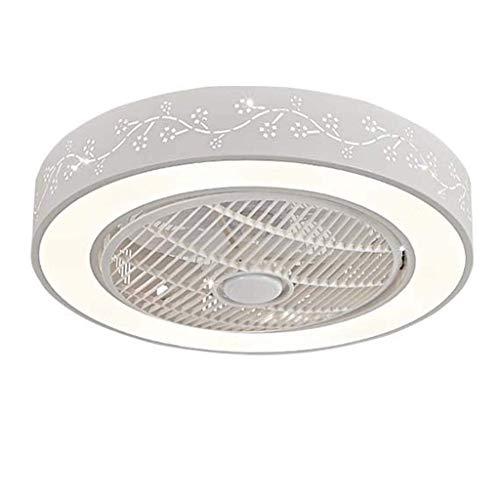 BBZZ Luz de ventilador invisible simple con mando a distancia, lámpara de techo LED tricolor, apto para dormitorio, sala de estar, comedor, cocina, etc.