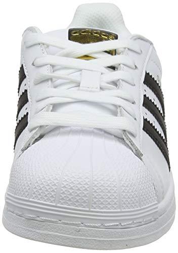 adidas Superstar, Baskets Homme, Blanc (Footwear White/Core Black/Footwear White 0), 43 1/3 EU