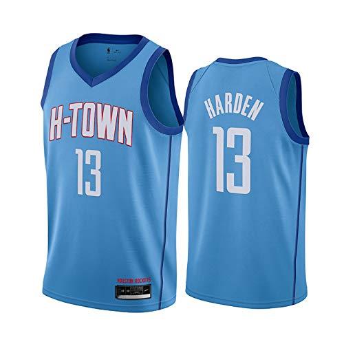 FRESHC Hombre Jersey Harden 13 Baloncesto Camisa Rockets Bordado Swingman Jersey, Versión de la Ciudad Ropa de Baloncesto Unisex, Fan de Baloncesto Uniforme Cielo Azul XL