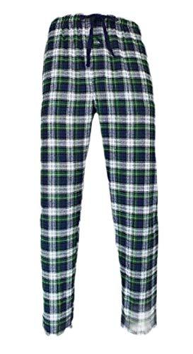 H&E - Pantalones de Pijama para Hombre, Cintura elástica, a Cuadros