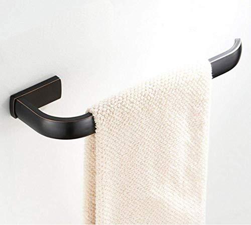 SEESEE.U - Toallero de anilla para colgar toallas, color negro y bronce
