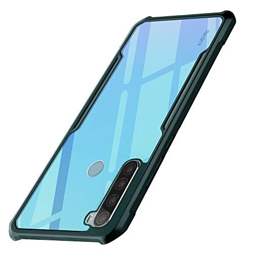 WOW Imagine Shock Proof Clear Protective Back Case for REDMI Note 8 - AirEDGE Technology   360 Degree Camera Protection   Transparent Hybrid Back Case Mobile Cover for XIAOMI MI REDMI Note 8 - Camo Green